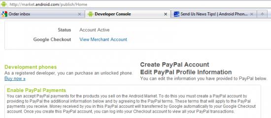 google market backend paypal 550x241 - Android Market aceitando PayPal está cada vez mais perto