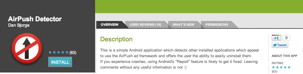 Update: We Have an Even Better Tool] AirPush Detector Will Help You