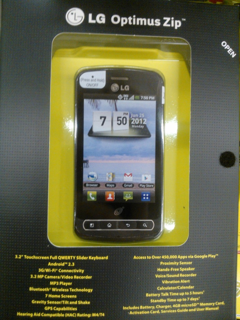 8f23c13fb11 Entry-level LG Optimus Zip announced for TracFone