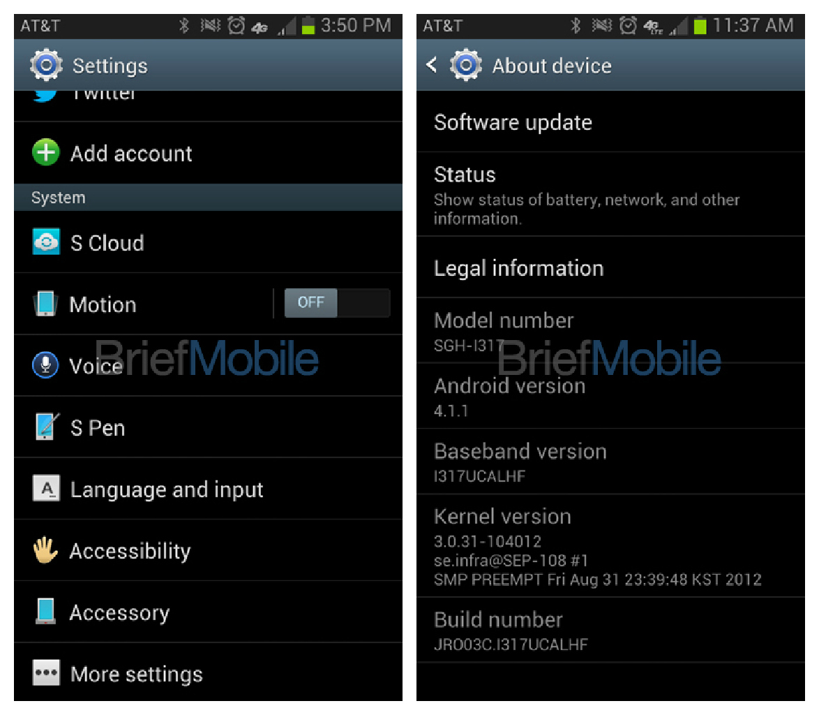 AT&T Galaxy Note 2 Confirmed In Leaked Screenshots – Release