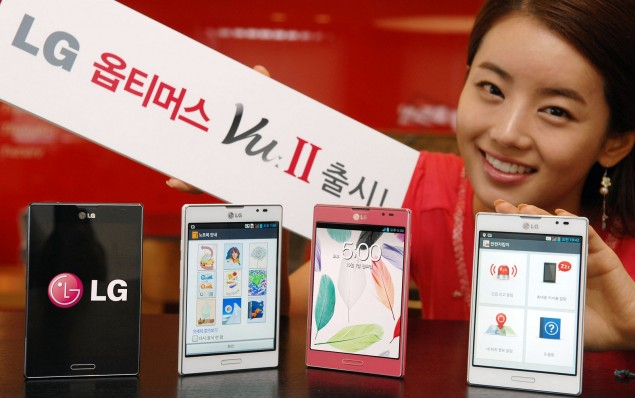LG Optimus Vu II 2 BIG girl cute card