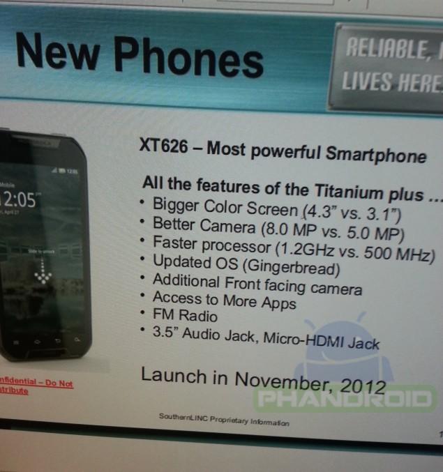 SouthernLINC Wireless to receive low-end Motorola XT626