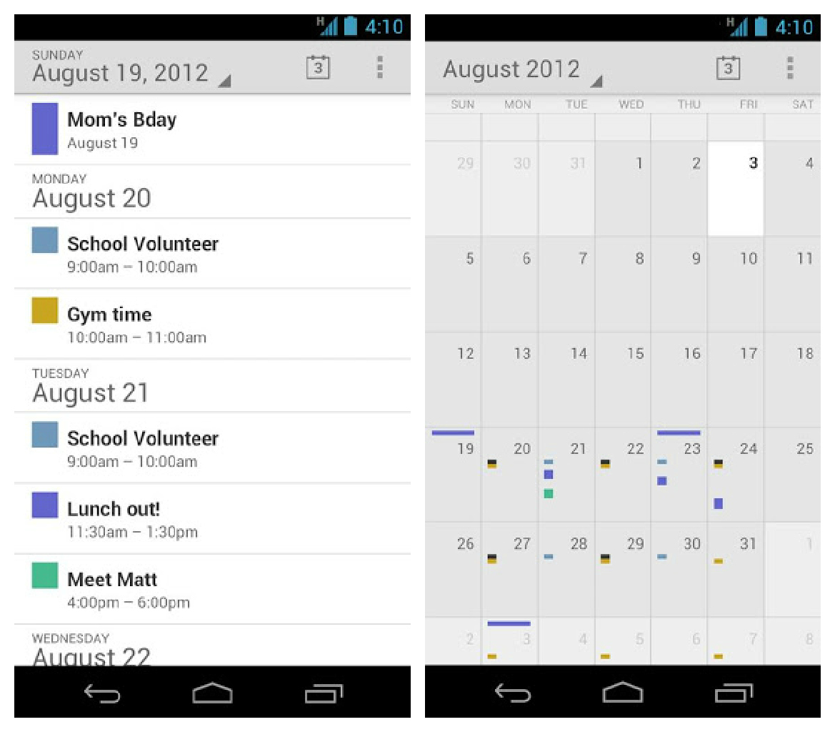 The Stock Google Calendar App Is Now Available In The Play Store For