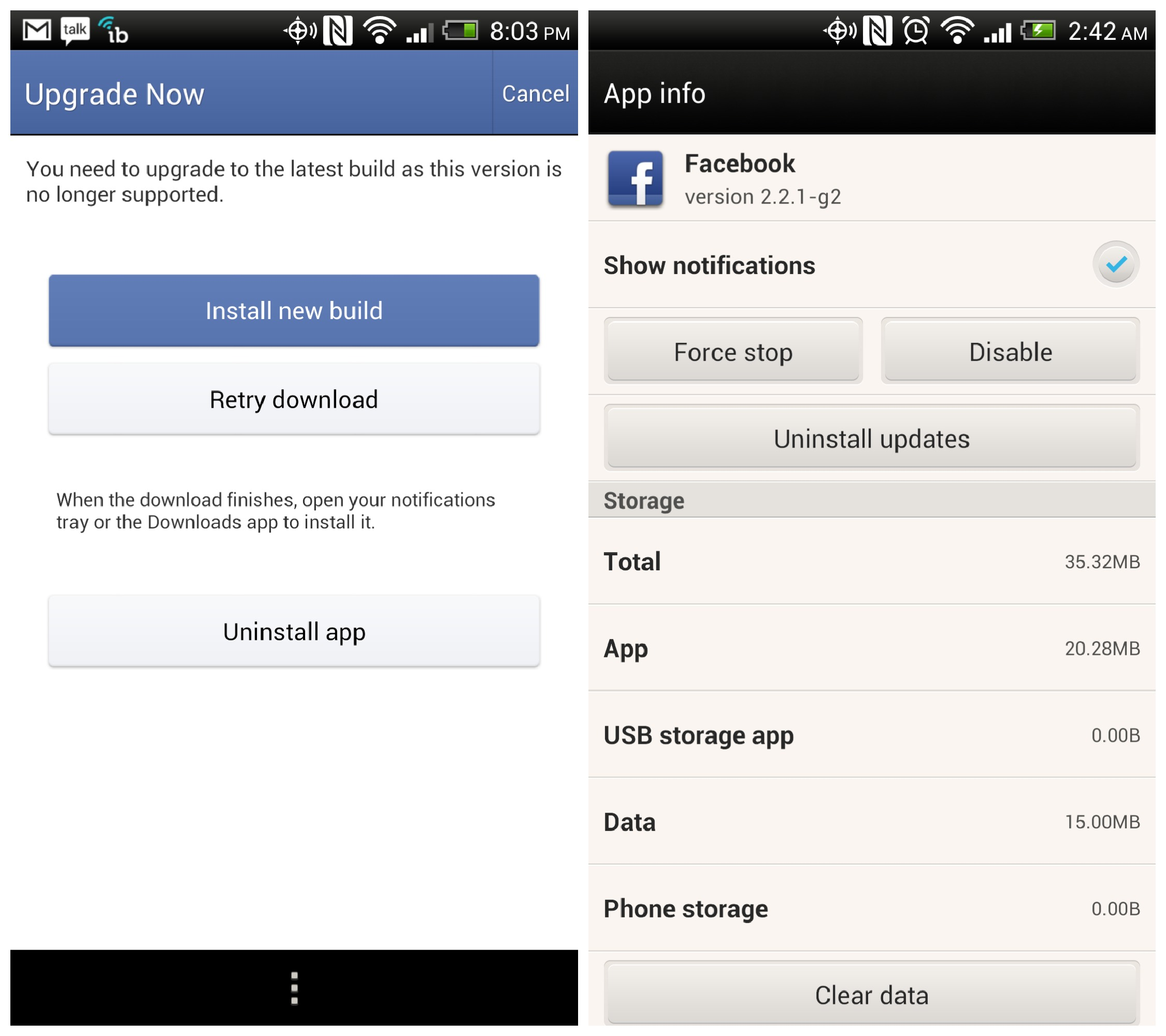 how to update latest version of facebook