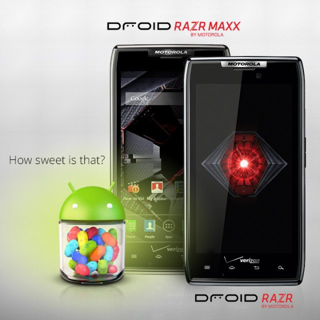 Droid RAZR and RAZR MAXX get Android 4.1 Jelly Bean