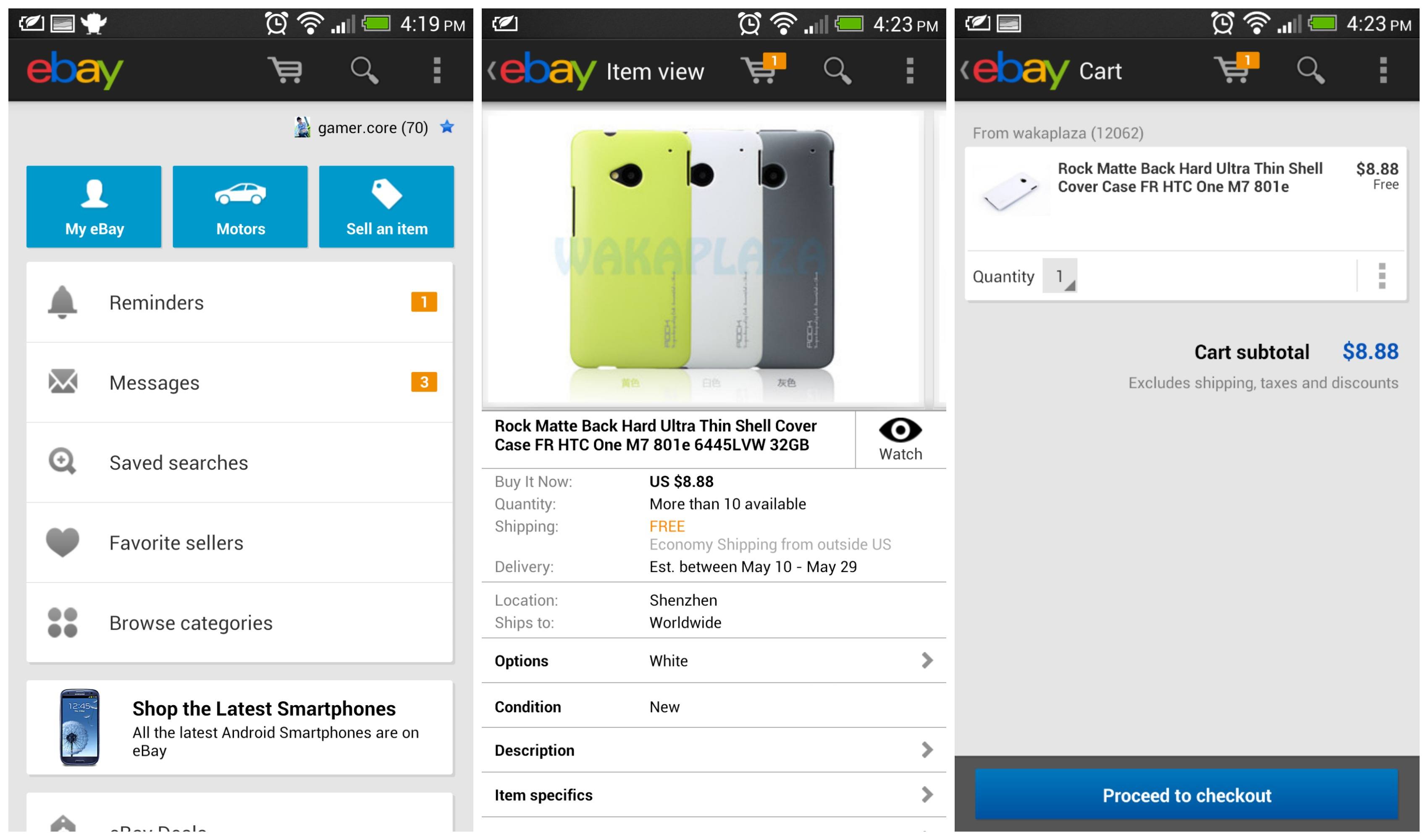 eBay for Android update brings new shopping cart feature and