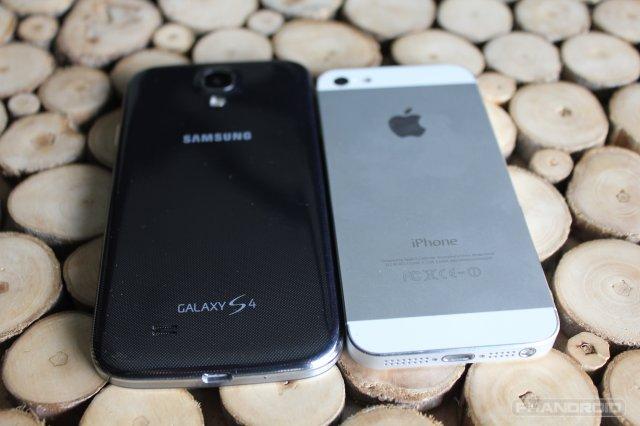 galaxy s4 vs iphone 5