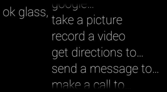Glass Voice Commands