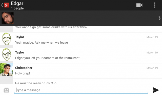 google plus messenger