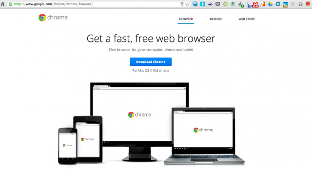 Chrome web browser download