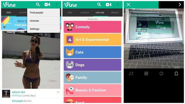 Vine for Android 1.3.1 update