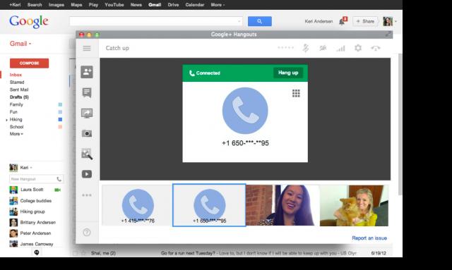 Phone calls make triumphant return to Gmail via Hangouts