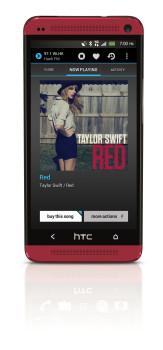 HTC One Red --NextRadio8-9-2013