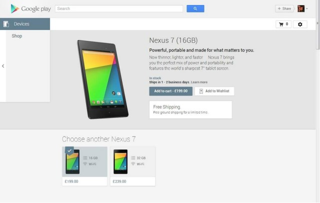New Nexus 7 2013 UK availability