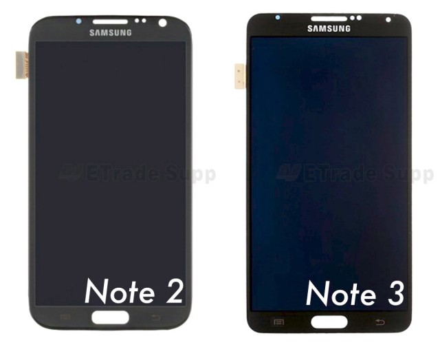 Samsung Galaxy Note 2 vs 3 display Phandrizzle