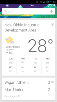Google Now sports