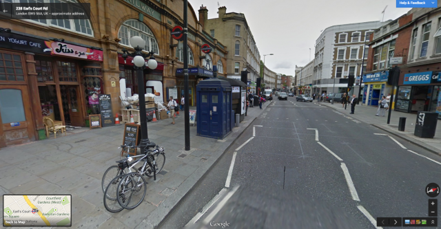 Maps 360.Doctor Who S Tardis Makes Appearance On Google Maps 360 Degree Tour