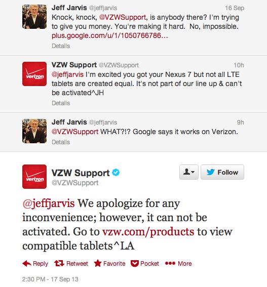 VZW Support Nexus 7 LTE