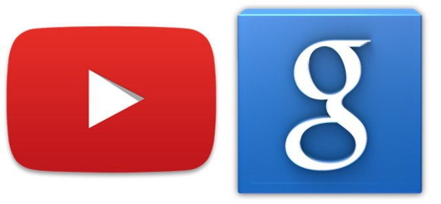 YouTube Google Search icons