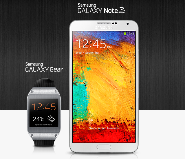 galaxy gear and note 3