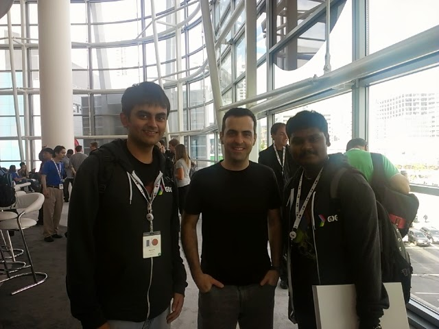 Me with Hugo Barra and the friend who told me that Hugo's looking to leave
