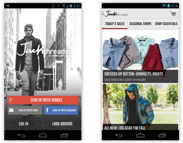 jackthreads android app