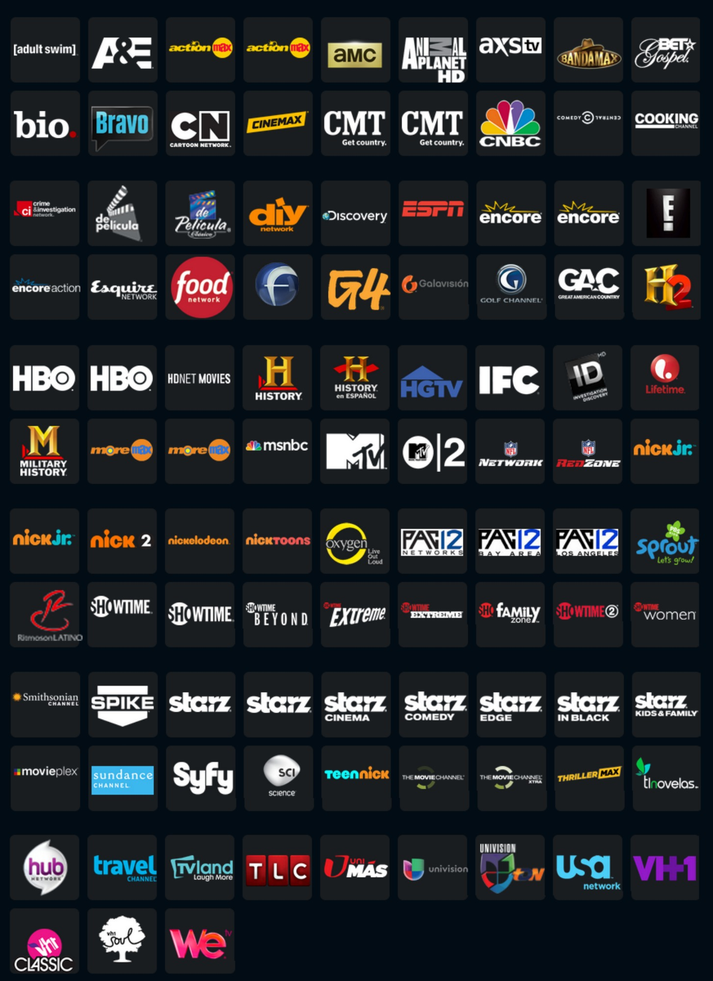 100 live TV channels now available for the streaming via