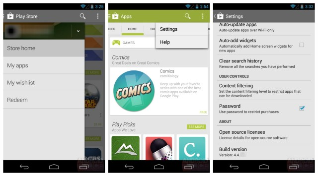 Google Play Store 4.4 leak