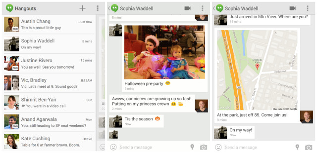 Hangouts v2 for Android SMS