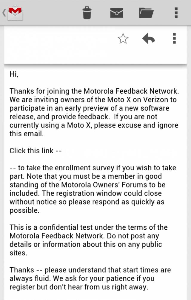Moto X Soak Test camera update