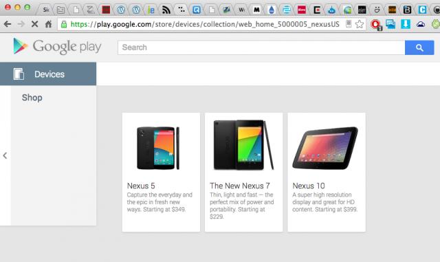 Nexus 5 Google Play Store oops