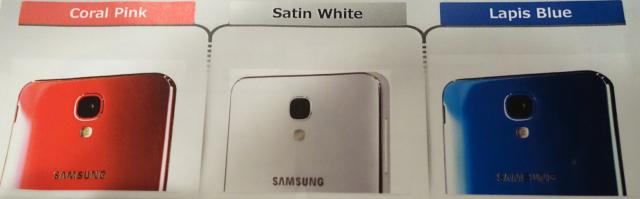 Samsung Galaxy J colors