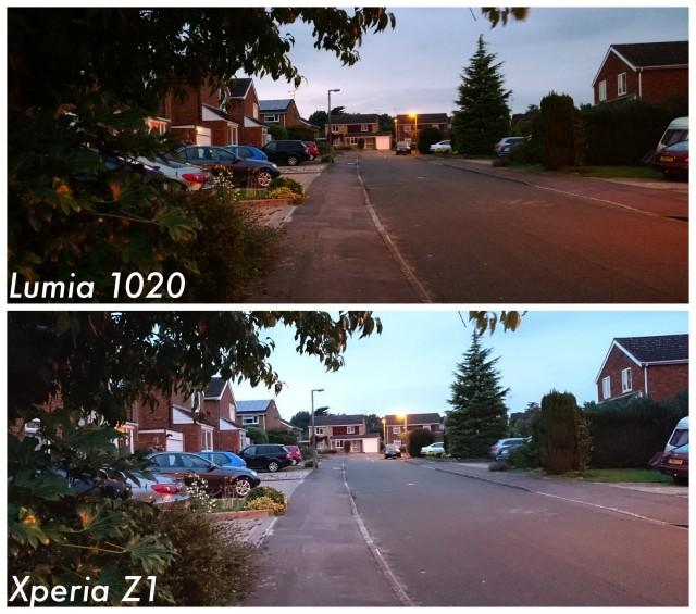 Sony Xperia Z1 vs Nokia Lumia 1020 dusk