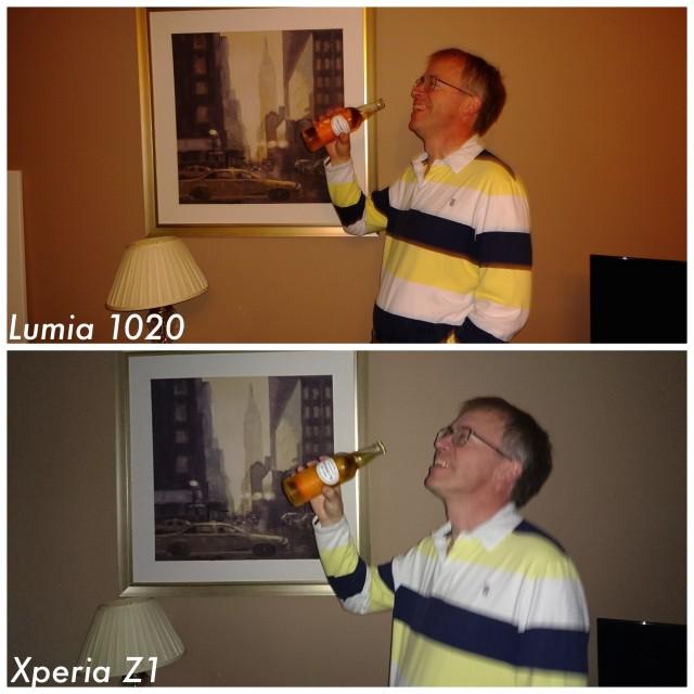 Sony Xperia Z1 vs Nokia Lumia 1020 indoor light