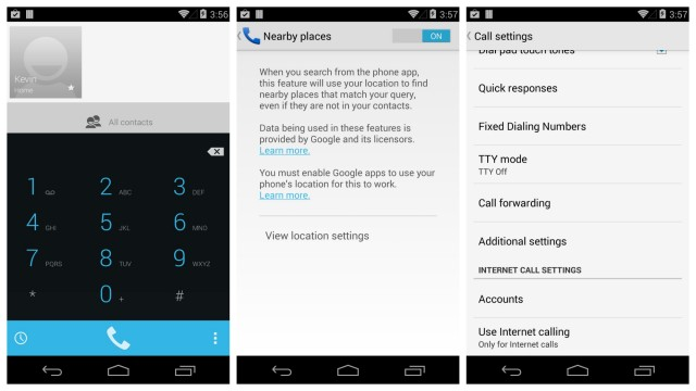 Android 4.4 KitKat Dialer