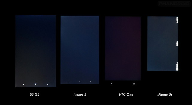 Nexus 5 display comparison