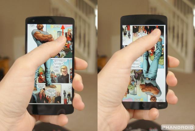Nexus 5 upside down