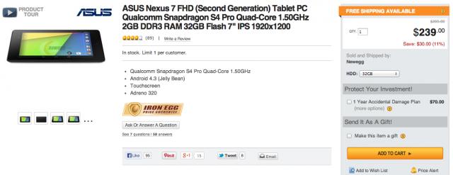Nexus 7 2013 newegg