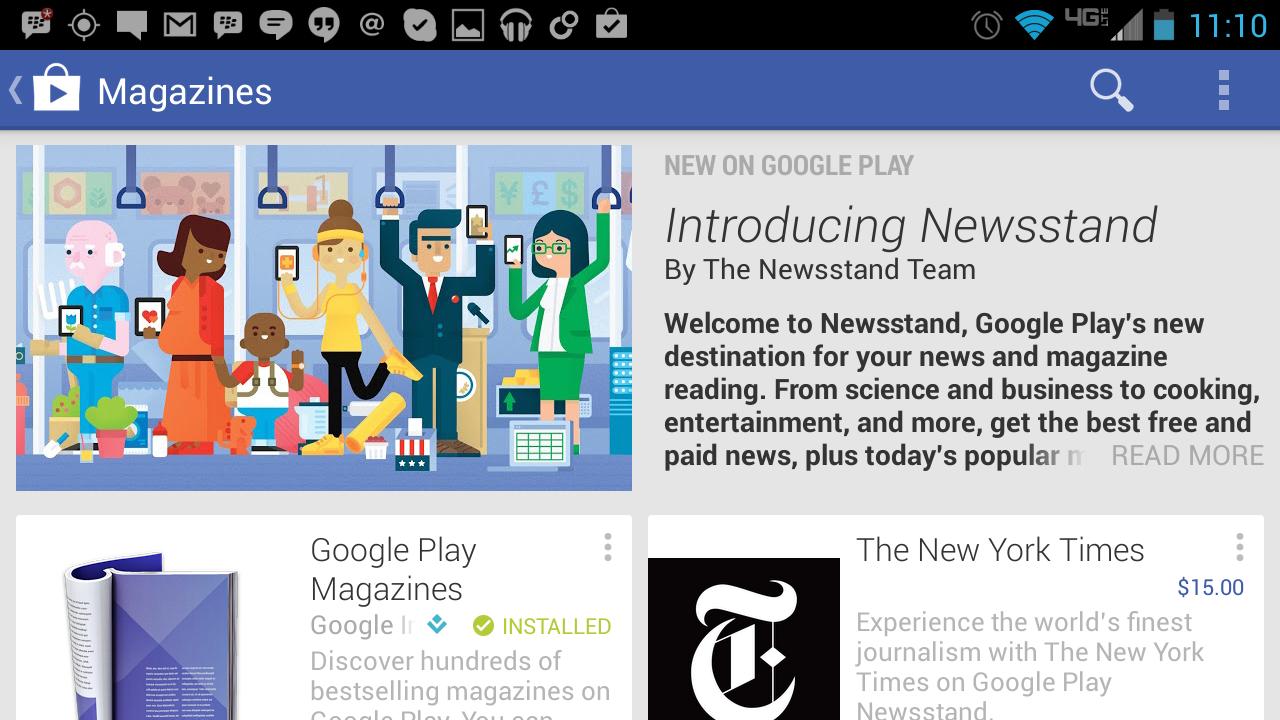Google unveils Google Play Newsstand