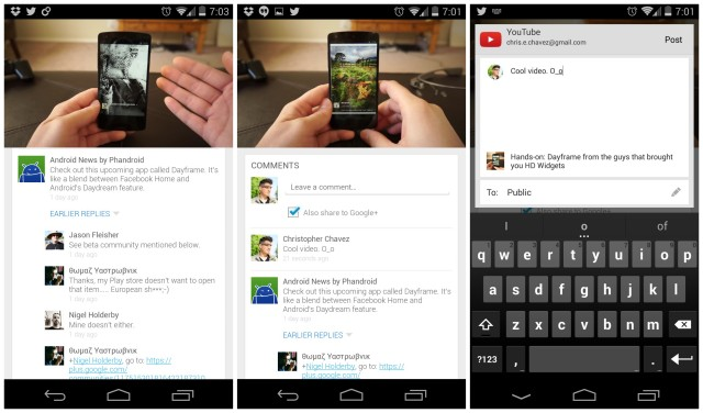 YouTube update with Google Plus comments
