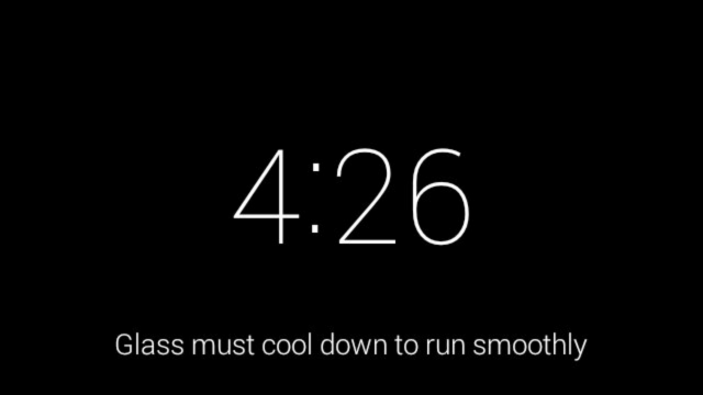 Google Glass XE12 over heating warning