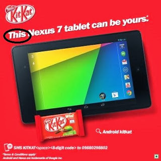 Kitkat Nexus 7 2013 winners are
