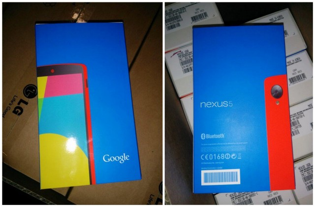 Red Nexus 5 boxed