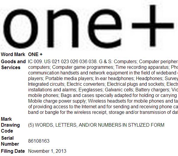 one plus trademark