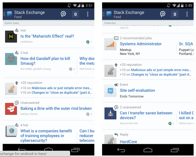 Stack Exchange Android Is Finally Here