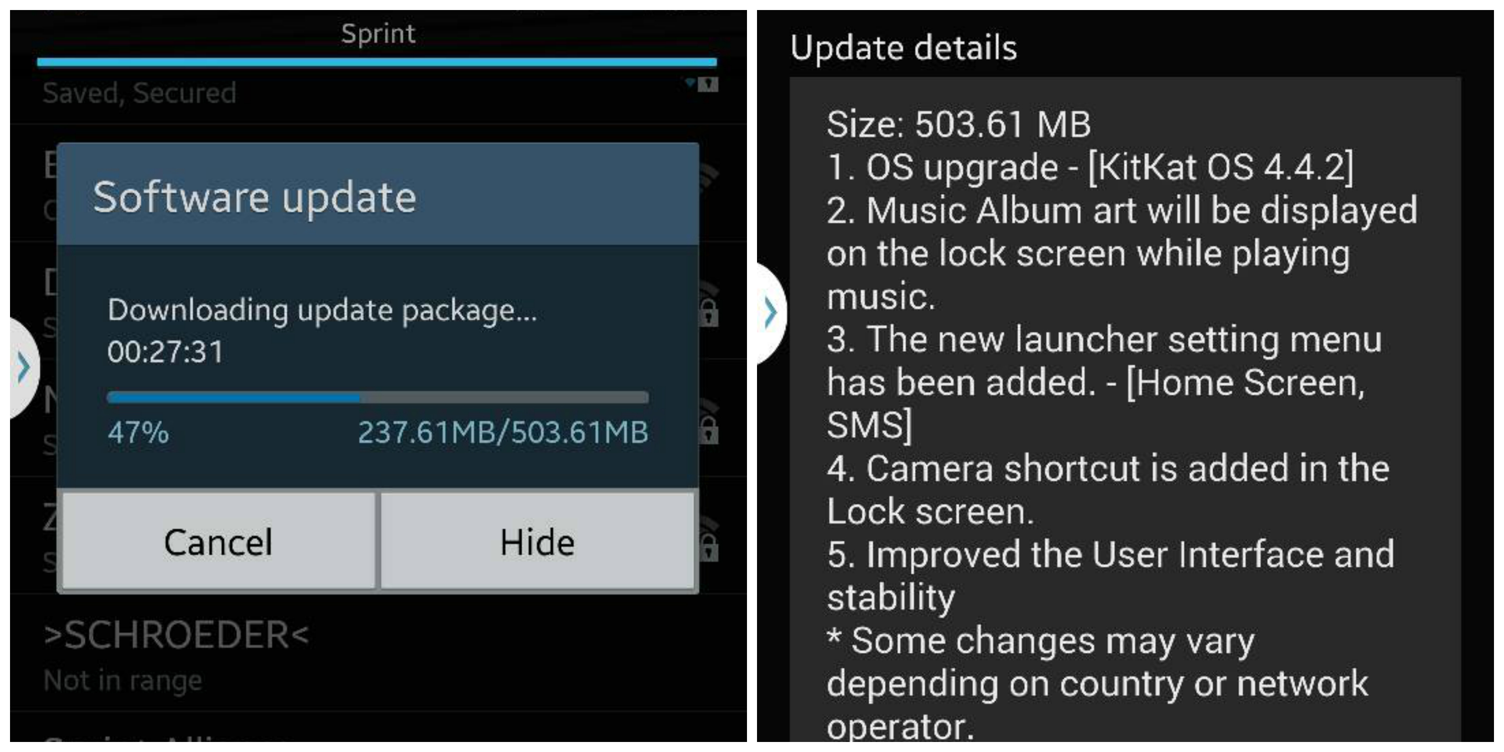 Sprint Samsung Galaxy Note 3 KitKat upgrade rolling out