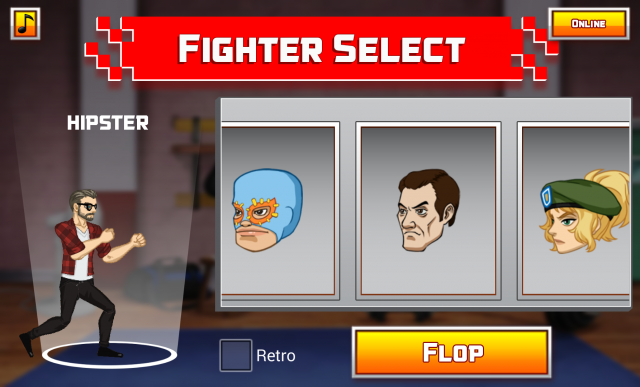 Flop Fu fighter select