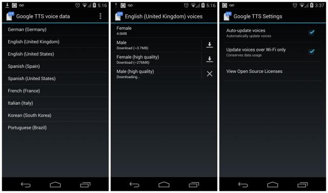 Google TTS update 03-05-14