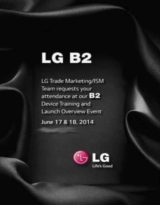 LG B2 G3 event training invite