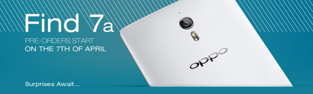 Oppo Find 7a preorder date